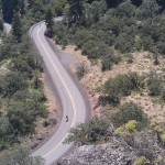 bicyclist decending Rowena Loops